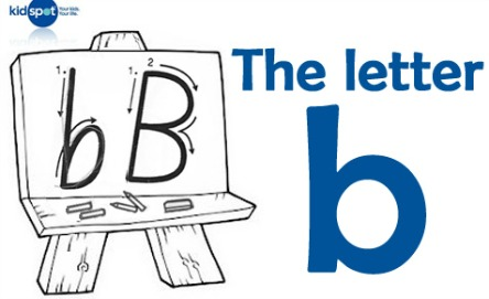How to write: The letter b