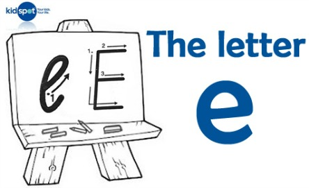 How to write: The letter e