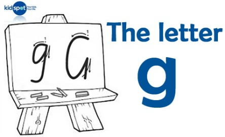 How to write: The letter g