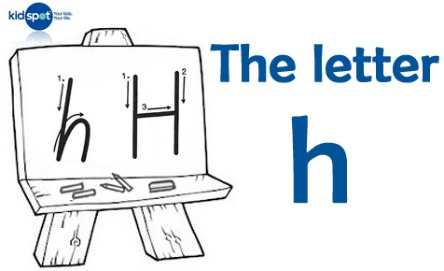 How to write: The letter h