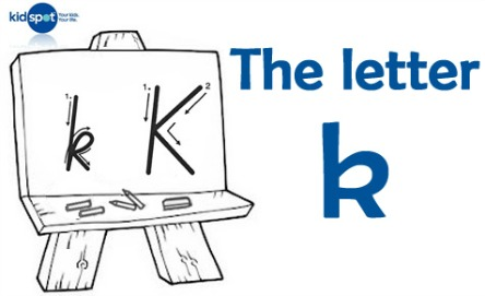 How to write: The letter k