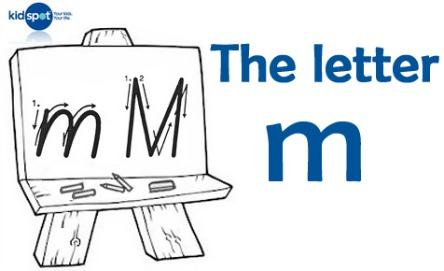 How to write: The letter m