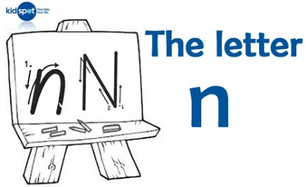 How to write: The letter n