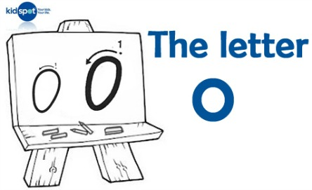 How to write: The letter o
