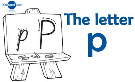 How to write: The letter p