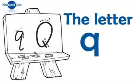 How to write: The letter q