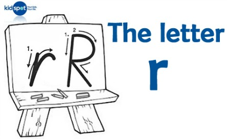 How to write: The letter r