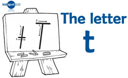 How to write: The letter t