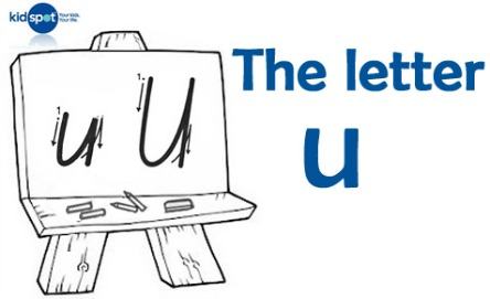 How to write: The letter u