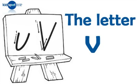 How to write: The letter v