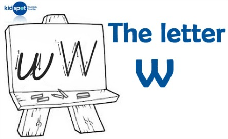 How to write: The letter w