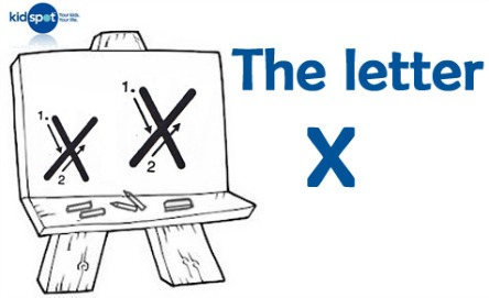 How to write: The letter x