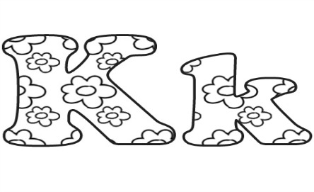 Learning ABC: The letter K