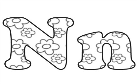 Learning ABC: The letter N