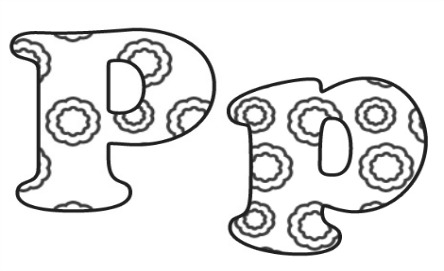 Learning ABC: The letter P