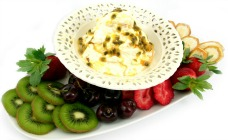 Gluten free marshmallow and passionfruit dip