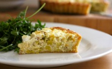 Leek and goats cheese tarts