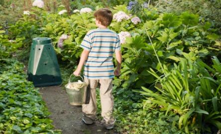 Make a garden composter