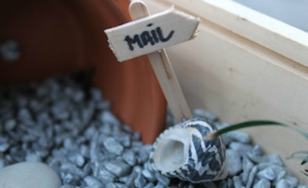 Make a fairy's mailbox for your fairy garden