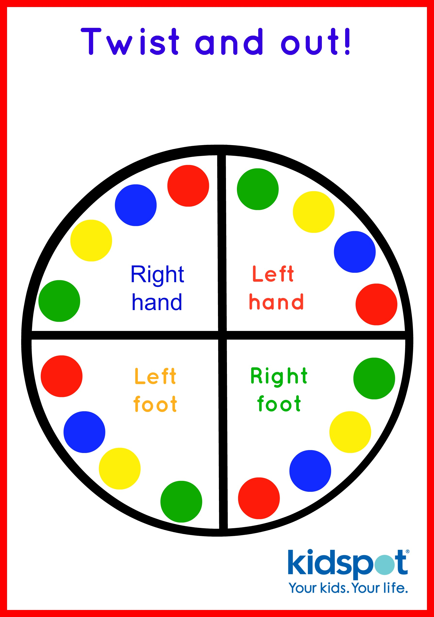 graphic regarding Finger Twister Printable titled Twister - Outside Game titles - Loved ones Game titles
