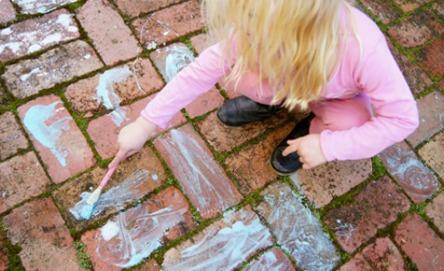 DIY fizzy chalk paint