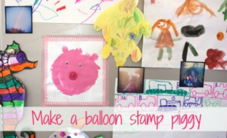 Balloon stamp painting