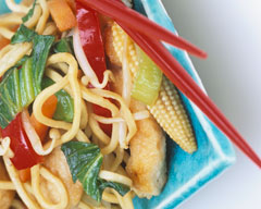 Honey soy chicken noodle stir fry