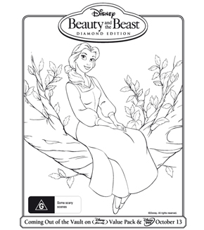 Beauty and the Beast Colouring Page 3