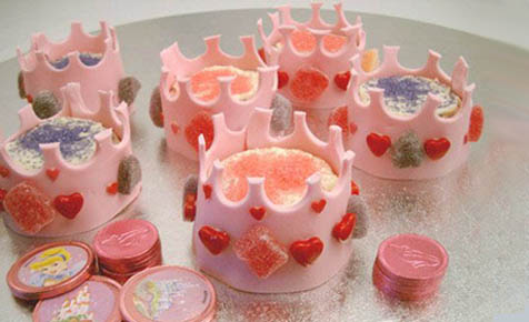 Princess crown cupcakes