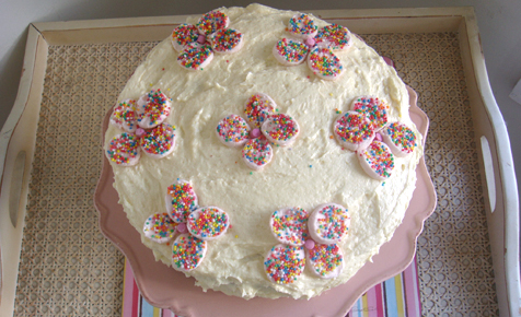 Marshmallow flower cake