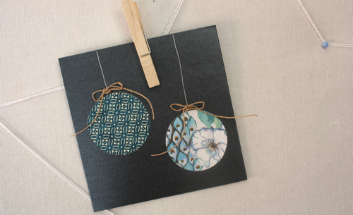 Paper bauble Christmas card