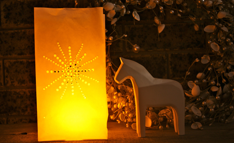 Paper cut-out lanterns