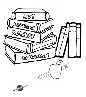free online books colouring page - Colouring Pages Of Books