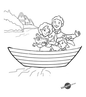 Family in a Boat