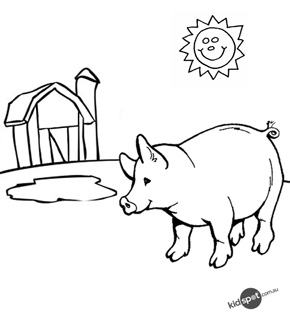 Pig Colouring Page