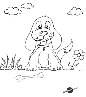 Doggie Colouring Page