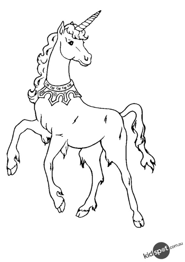 Free Online Unicorn Colouring Page