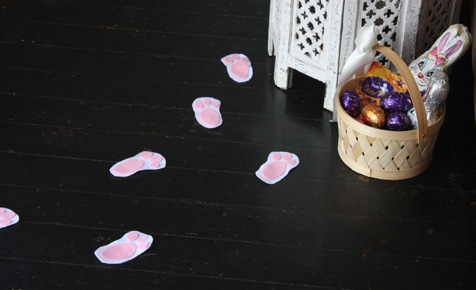 Bunny footprints