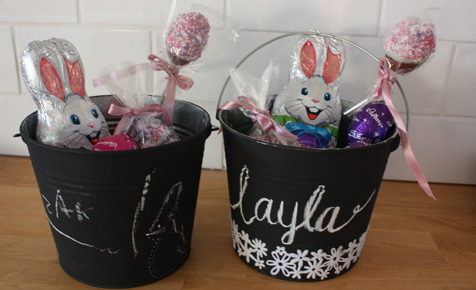 How to make Easter egg hunt buckets