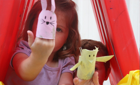 How to make toilet roll puppets