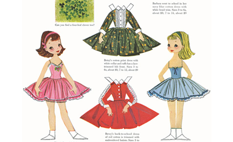 paper dolls - Kids Activities Print