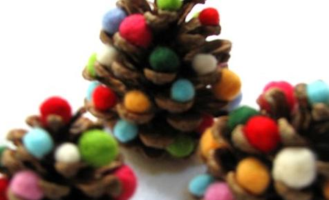 pom pom pinecones
