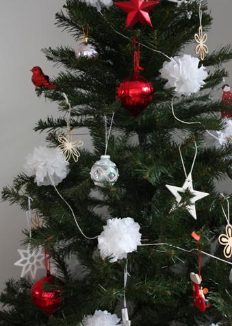 Christmas tissue pom poms