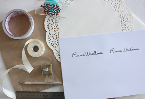 Make your own stationery set
