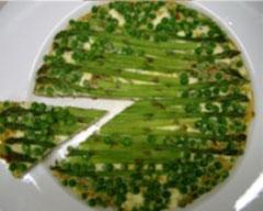 Pea and asaparagus frittata