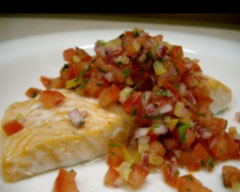 Salmon with zesty citrus salsa