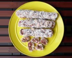 Chewy fruit and nut roll