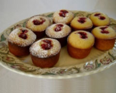 Lemon and raspberry friands