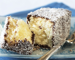 Chocolate caramel lamingtons