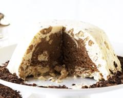 Chocolate ice cream pudding